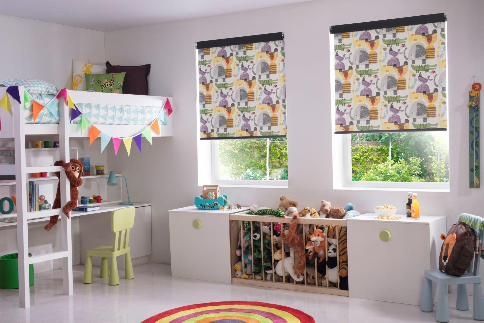 тканинні ролети в дитячу кімнату фото