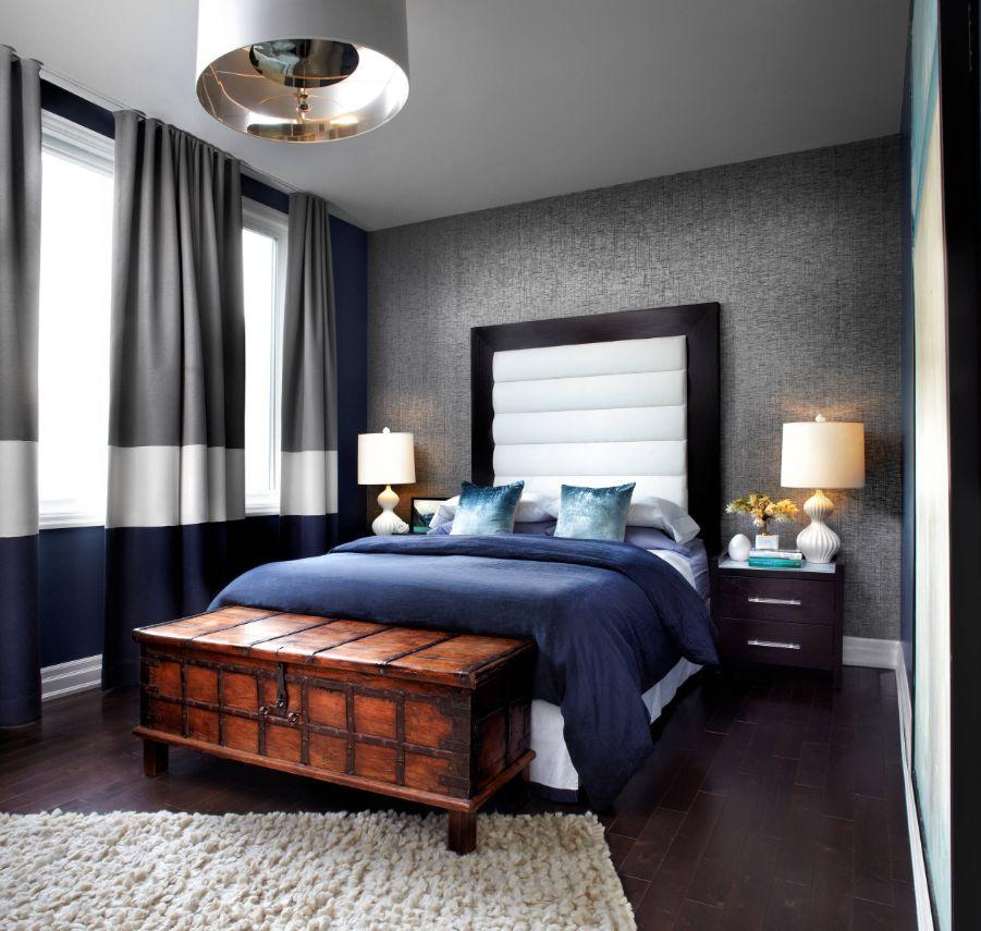 Як підібрати штори в спальню під шпалери фото