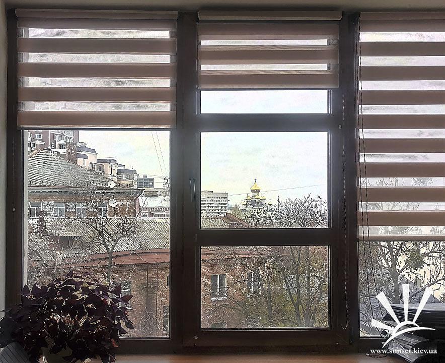 Рулонные шторы Зебра